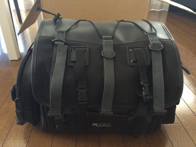 大きなシートバッグを買いました