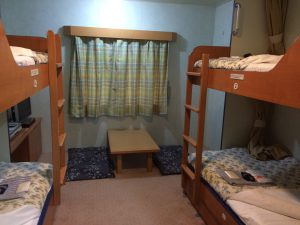 和洋室4人部屋を2人で利用です